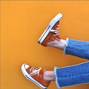 Seasonal collection orange suede